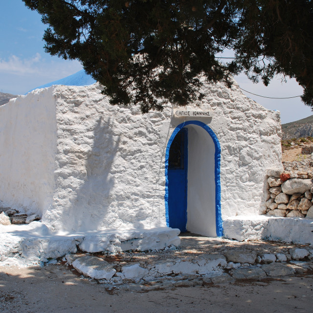 """Agios Ioannis church on Tilos, Greece"" stock image"