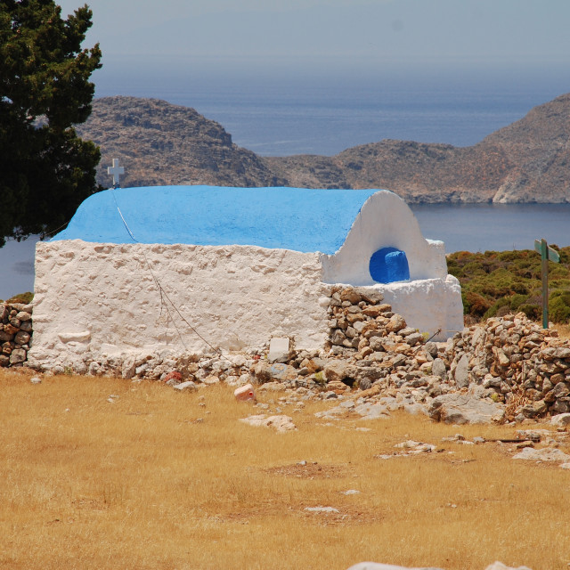 """Agios Ioannis church on Tilos"" stock image"