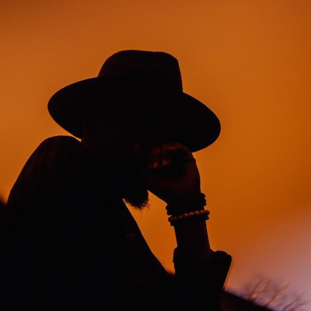 """Orange Silhouette"" stock image"