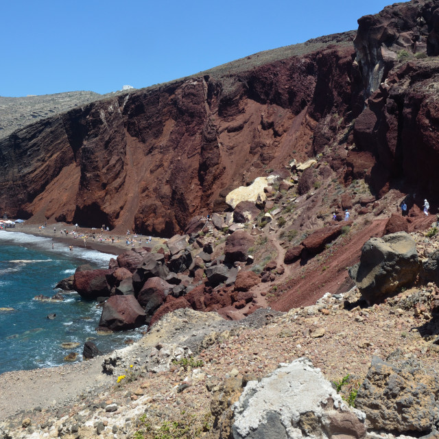 """Red Beach Santorini"" stock image"