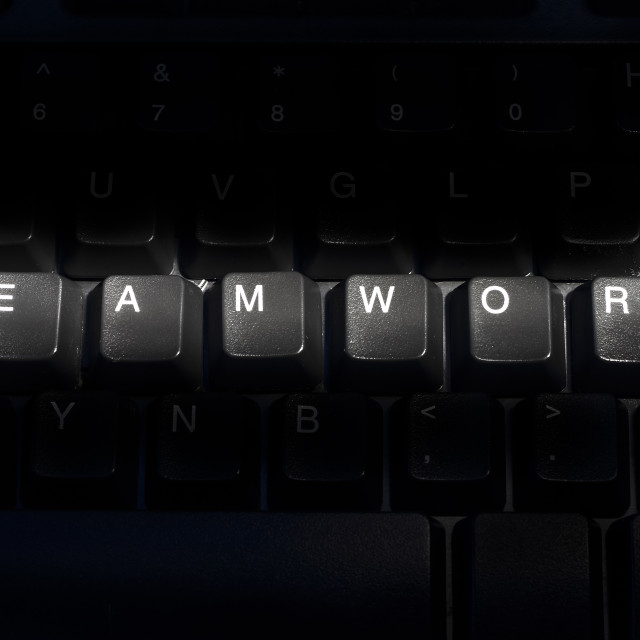 """""""Computer keyboard with the word Teamwork"""" stock image"""