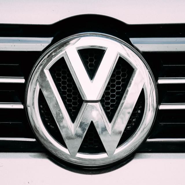 """Batumi, Georgia. Close View Of Logo Logotype Sign Of Volkswagen On Car."" stock image"
