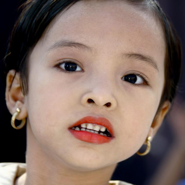 """""""Young Girl , Rangoon, Myanmar"""" stock image"""