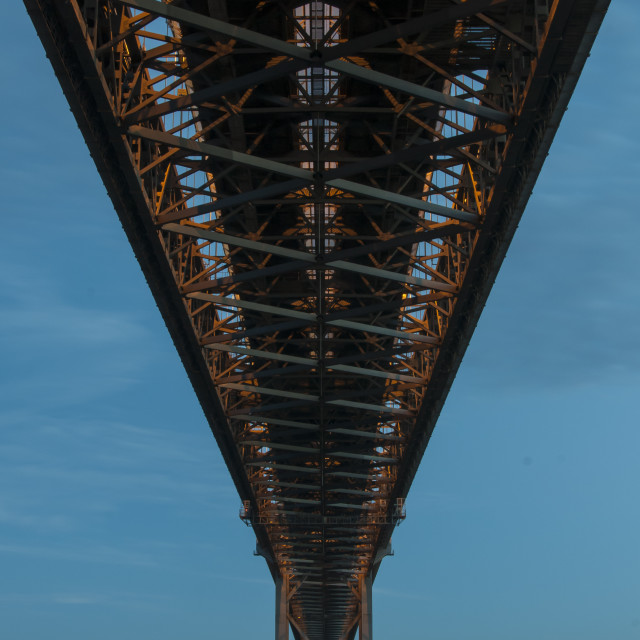 """The Forth Road Bridge"" stock image"