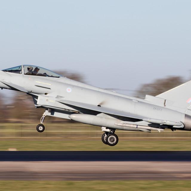 """""""4B9A5751 Typhoon FGR4 ZK377 377 180207 EGXC"""" stock image"""