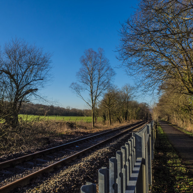 """Cyclepath and railway"" stock image"