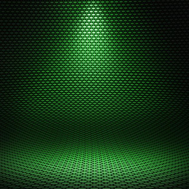 """Carbon fiber textured interior studio with directional light"" stock image"