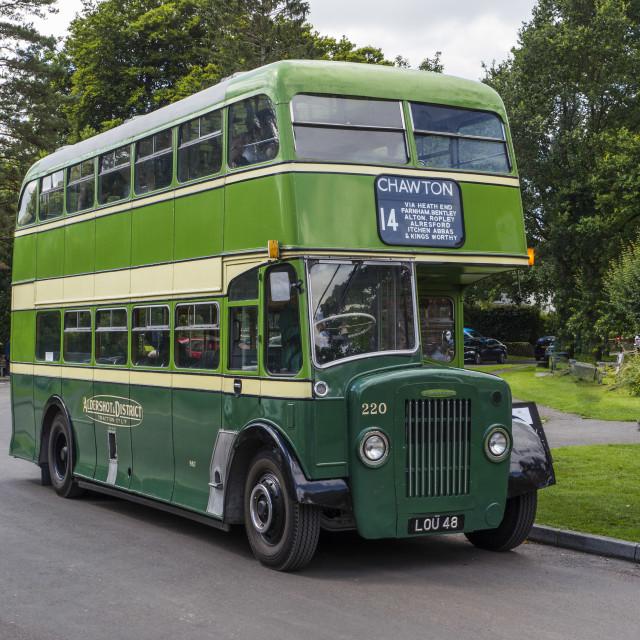 """""""Vintage Aldershot & District Bus"""" stock image"""