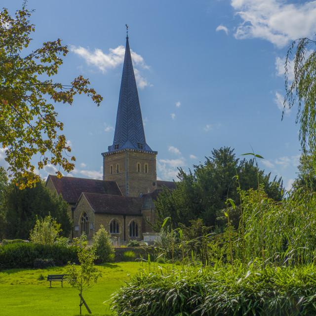 """Parish Church of St. Peter & St. Paul, Godalming ,Surrey"" stock image"