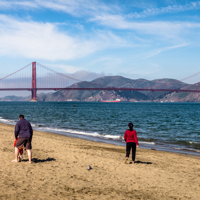 """Golden Gate beach"" stock image"