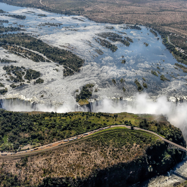 """Victoria Falls - Aerial View"" stock image"
