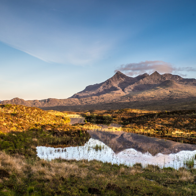 """The Cuillins"" stock image"