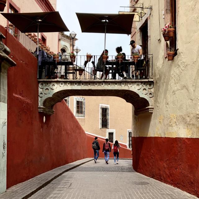"""""""El Campanaro Bridge Café"""" stock image"""