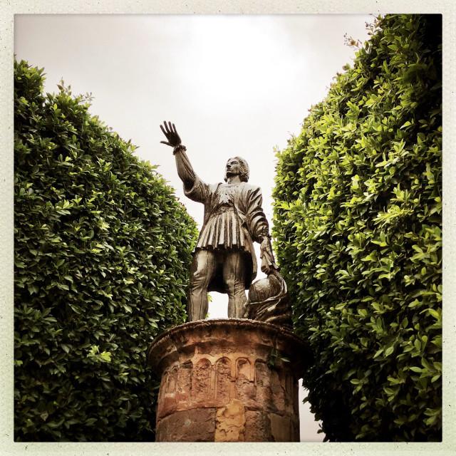 """""""Statue of Cristobal Colon"""" stock image"""