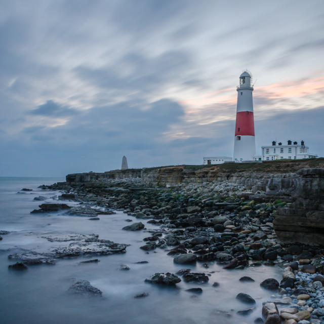 """Afternoon light, Portland Bill"" stock image"
