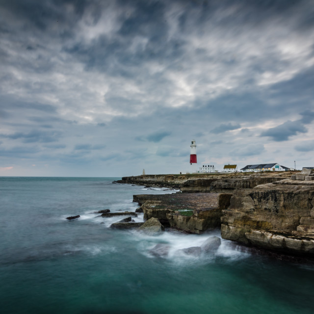"""A winter day at Portland Bill"" stock image"