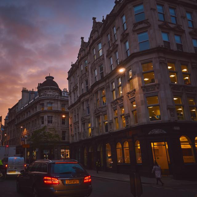 """London Street Scene"" stock image"