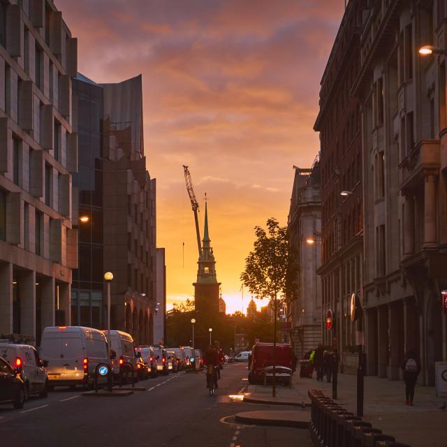 """""""London Sunrise"""" stock image"""