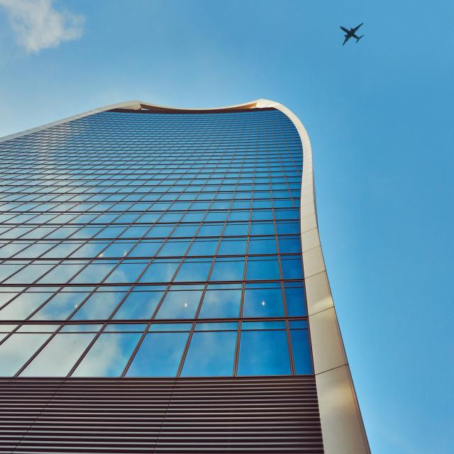 """London Walkie Talkie Building"" stock image"