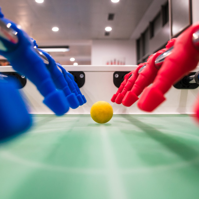 """Close up of foosball Table Soccer Game"" stock image"