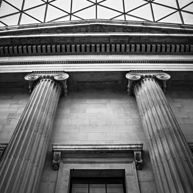 """Museum Columns"" stock image"