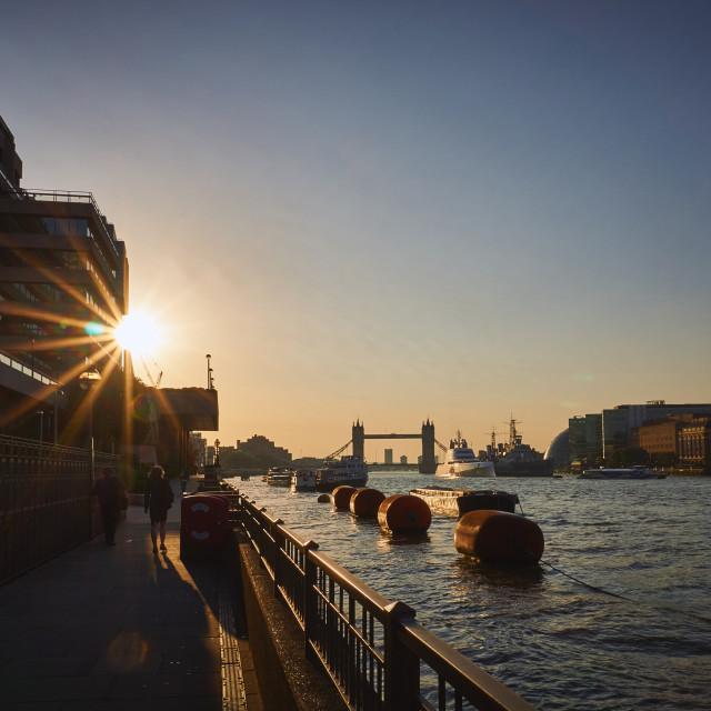 """River Thames"" stock image"
