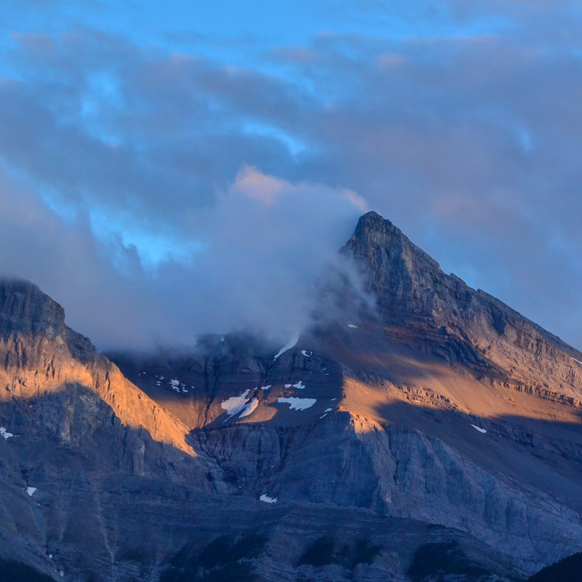 """Three Sisters Range near Canmore Alberta"" stock image"