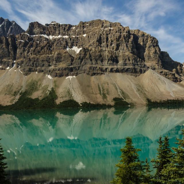"""Bow Lake, Alberta Canada"" stock image"