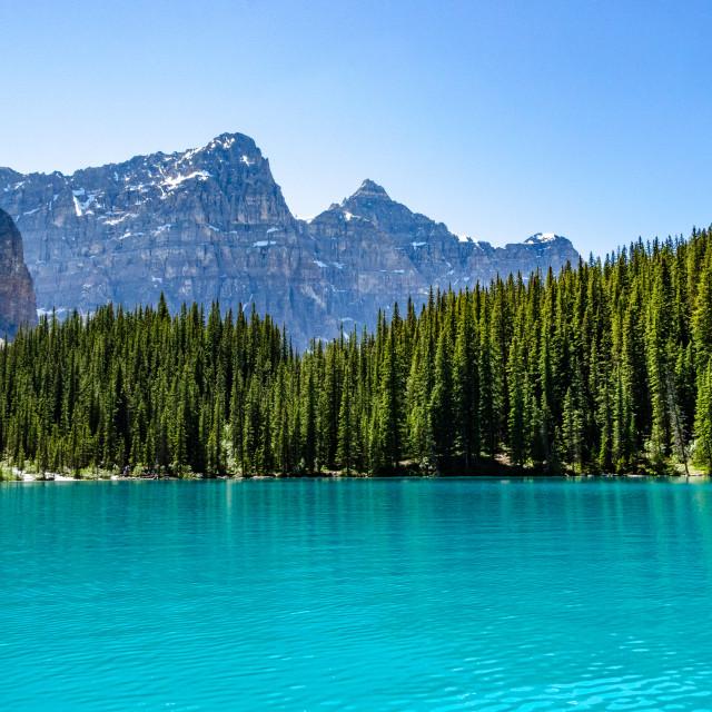 """Moraine Lake, Alberta Canada"" stock image"