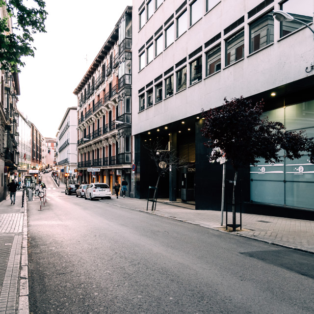 """""""Street in Chueca District in centre of Madrid"""" stock image"""