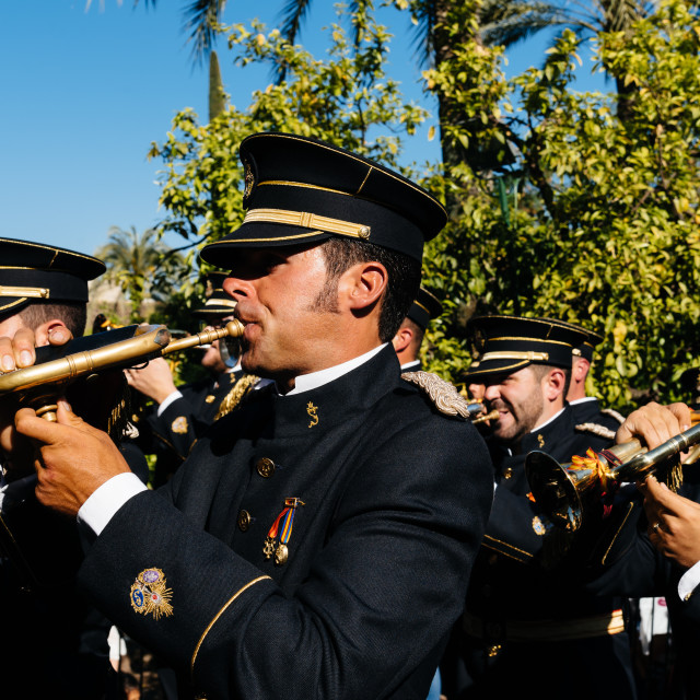 """Music band in Easter procession in Cordoba."" stock image"