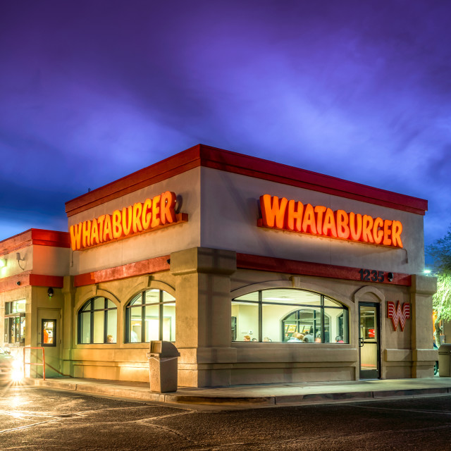 """Whataburger fast food restaurant"" stock image"