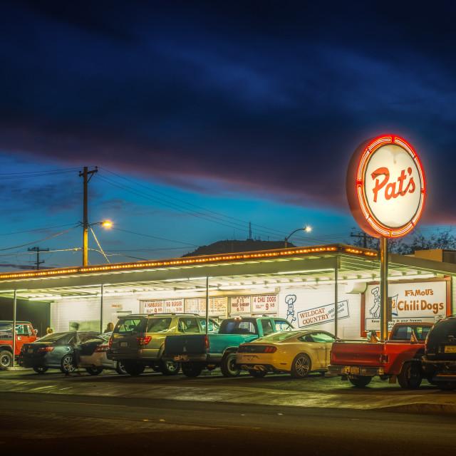 """Pat's Restaurant in Tucson"" stock image"