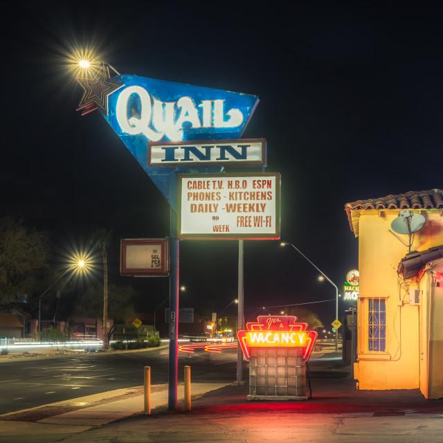"""Quail Inn Tucson"" stock image"