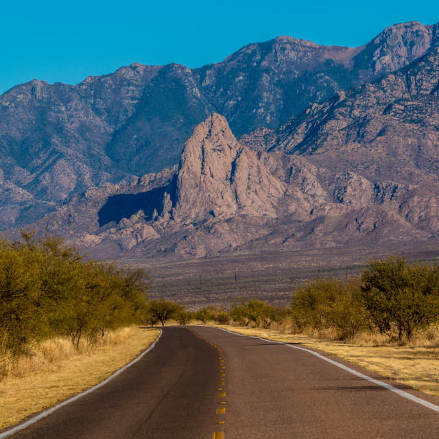 """Elephant Head mountain in Arizona"" stock image"
