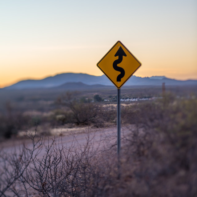 """""""Windy road sign"""" stock image"""