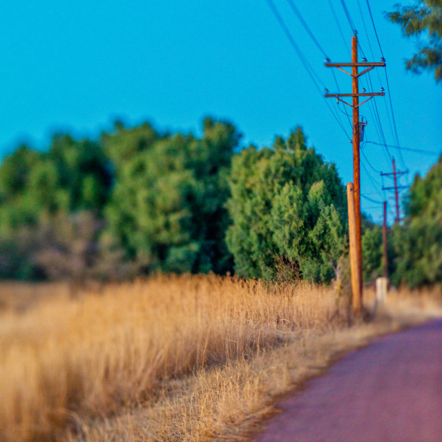 """""""Country Road with power lines"""" stock image"""