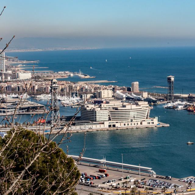 """Barcelona - port area"" stock image"