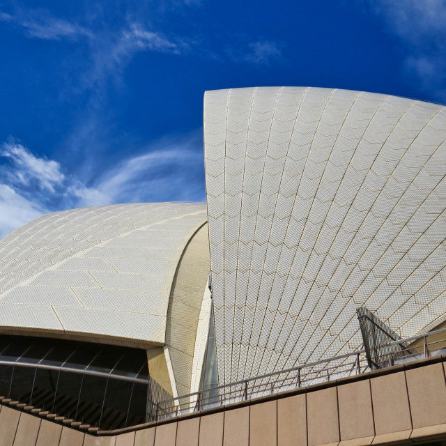 """Sydney Opera House roof"" stock image"
