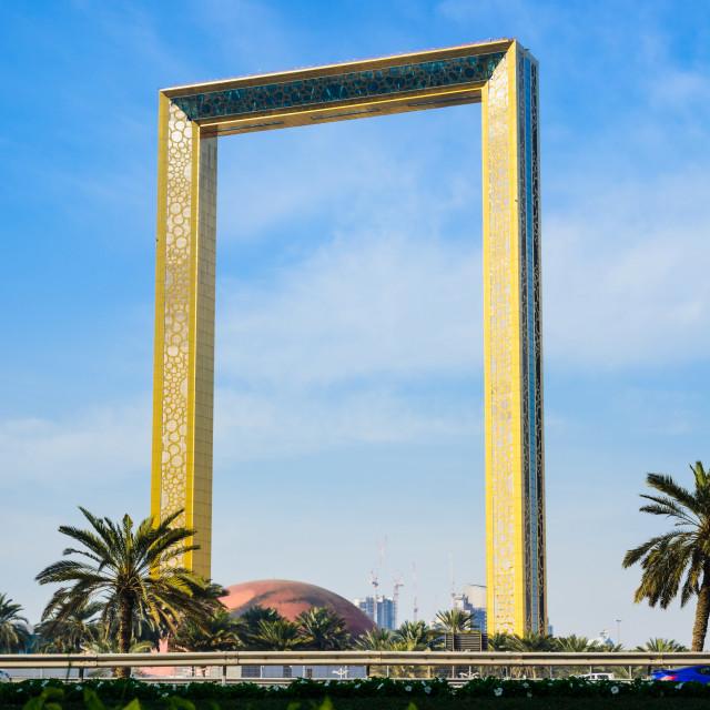 """Dubai Frame"" stock image"