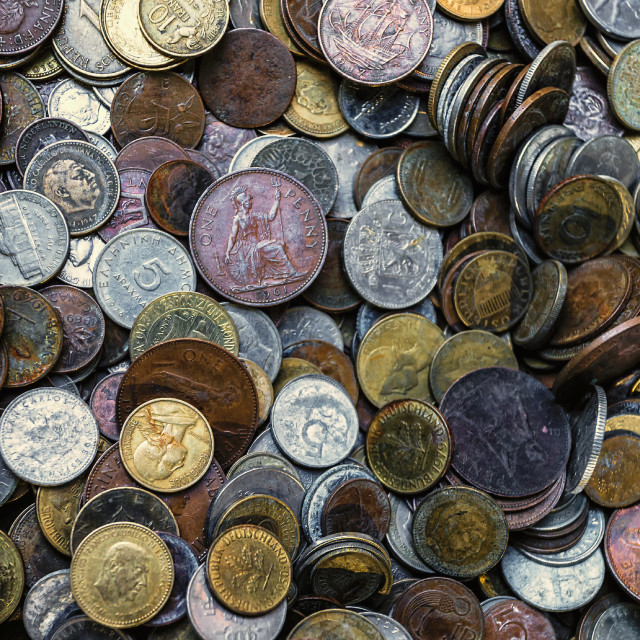 """Old Coinage"" stock image"