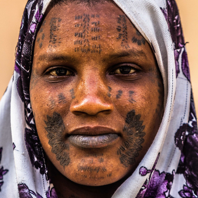 """Fulani Tribal Mark"" stock image"