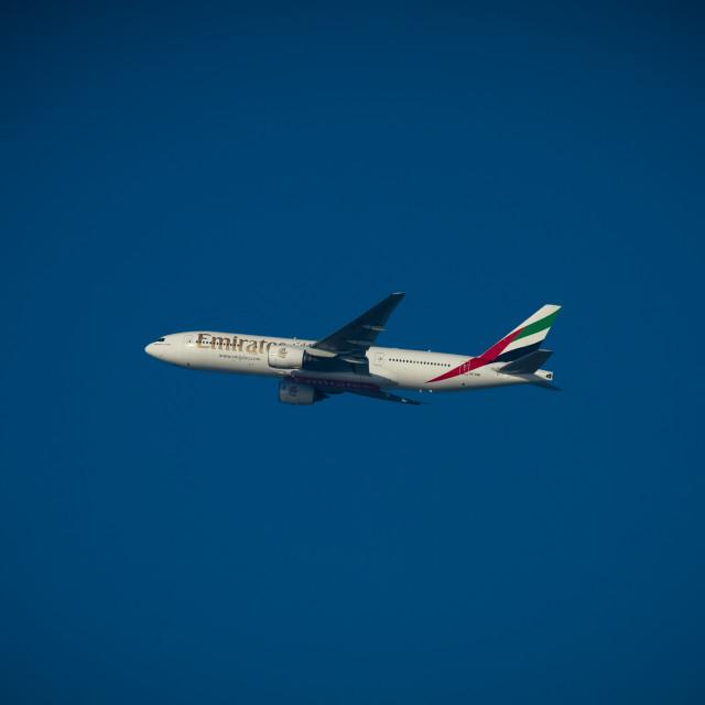 """Emirates Plane, Dubai"" stock image"