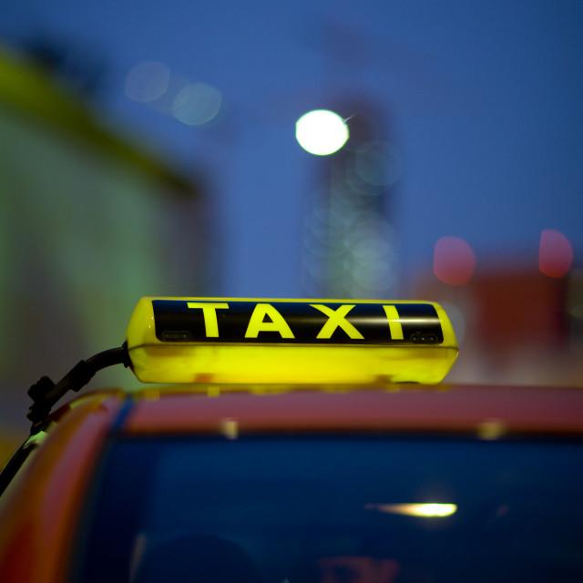 """Taxi In Dubai"" stock image"