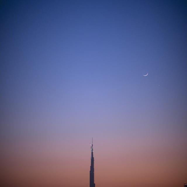 """Burj Dubai Tower, Dubai"" stock image"