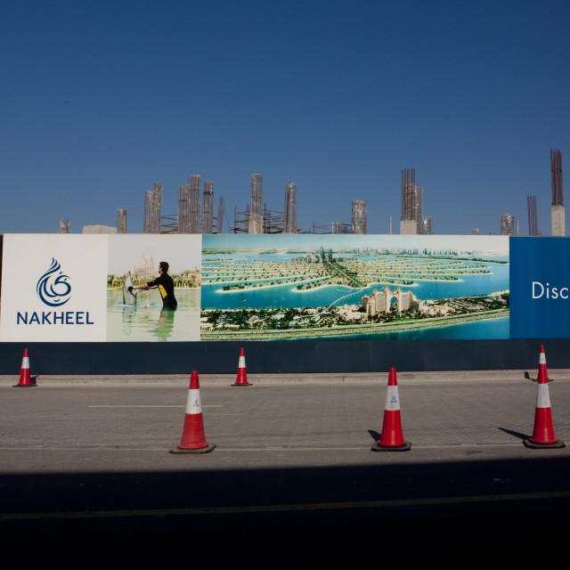 """The Palm, Dubai"" stock image"