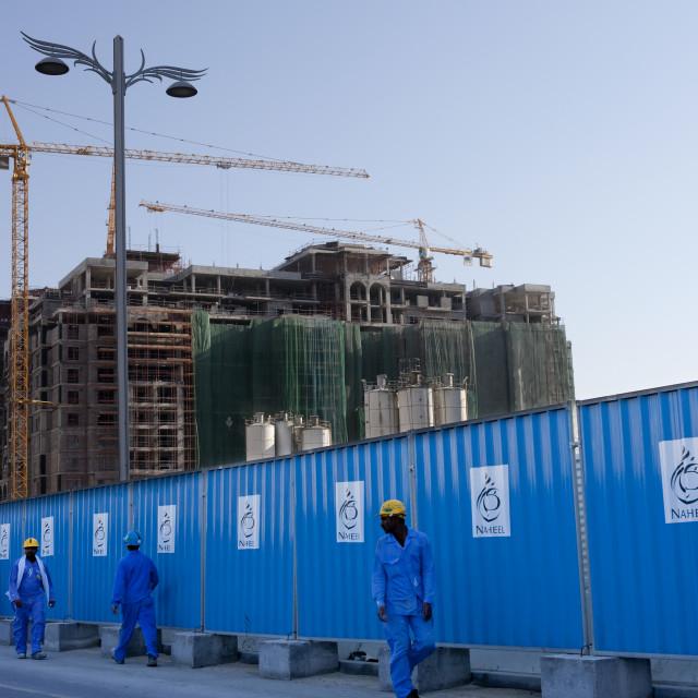 """""""Building Sites In Dubai"""" stock image"""