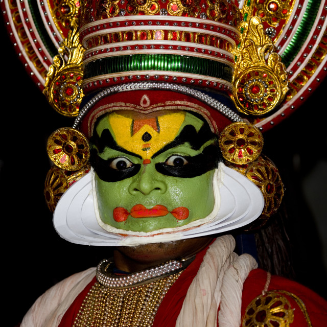"""Kathakali Dancers In Fort Kochin, India"" stock image"