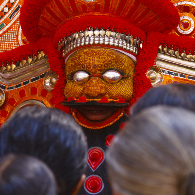 """People Asking Questions About The Future During Theyyam Ceremony, Thalassery,..."" stock image"
