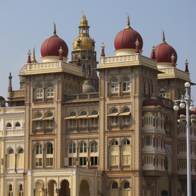 """""""Mysore Maharaja's Palace By Day, Mysore, India"""" stock image"""